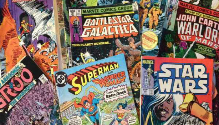 Comic Books Collage